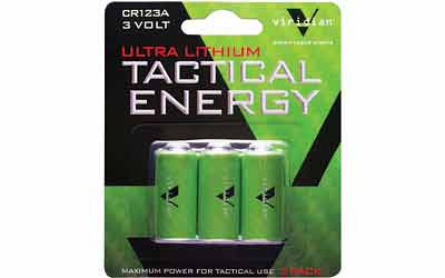 VIRIDIAN CR123A LITHIUM BATTERY 3PK