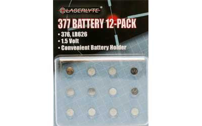 LASERLYTE 377 REPLACEMENT BATTERY 12/PK