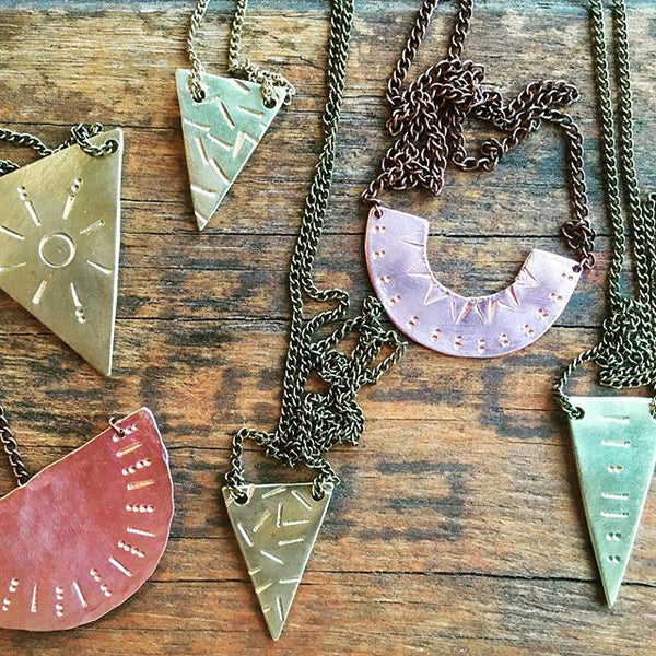 Jewellery Making Workshop using Copper and Brass | with Kat Relish | Saturday August 17th, 2019