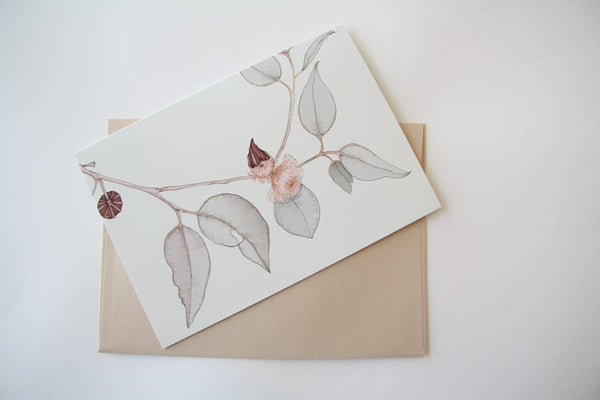 Red Bud Mallee (Light) Gift Card by Edith Rewa