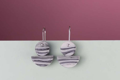 Marble Float Drop Earrings by Erin Lightfoot