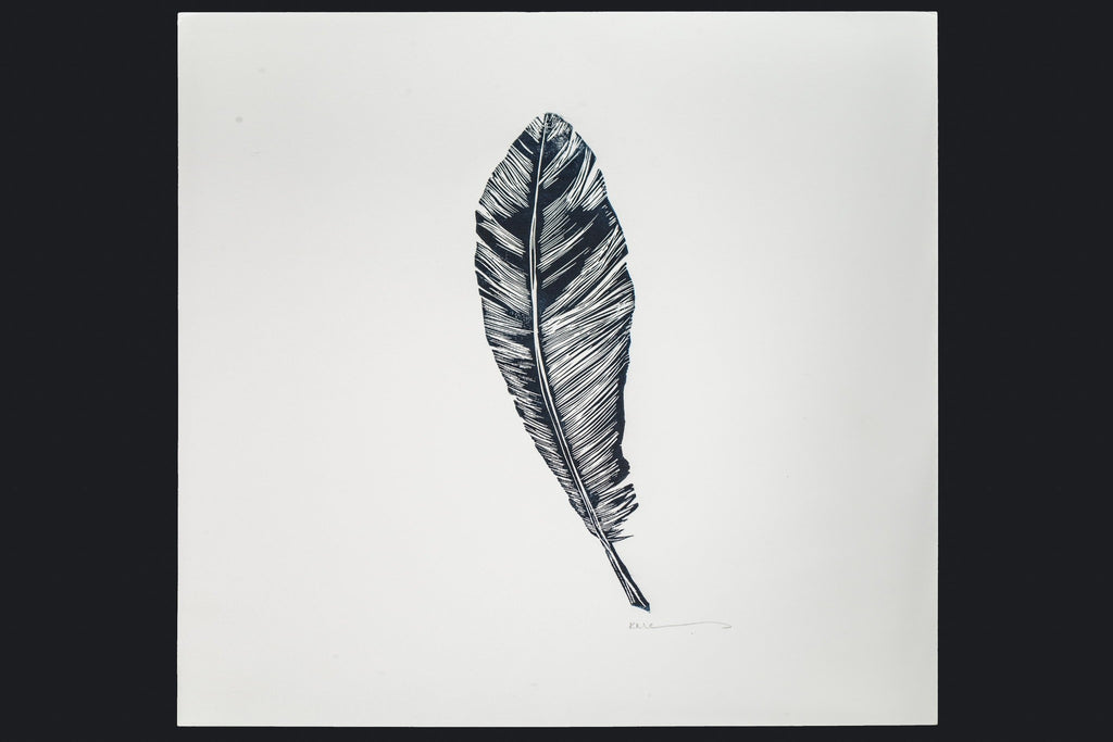 Feather Print A3 by Karen Mazonas - Unframed