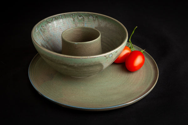 Dinner Plate - Olive Green Glaze - by Ceramic Rituals