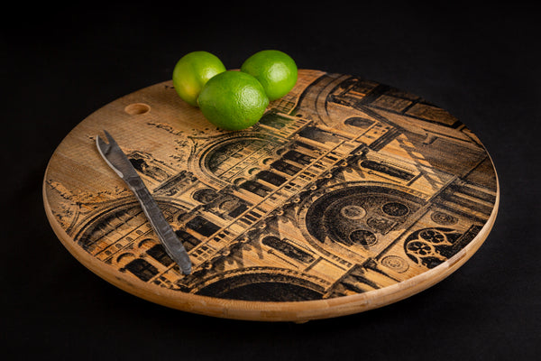 Screen Printed Bamboo Chopping Board (Large) by Roze Elizabeth