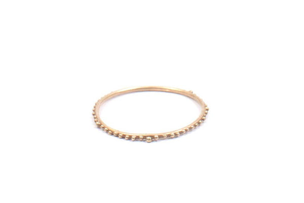Halftone Ring (14K Gold) by Abby Seymour