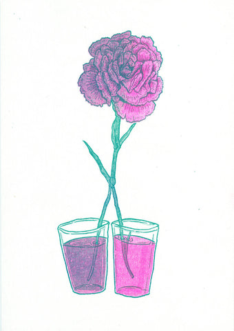 Dyed Carnation by Ashley Ronning