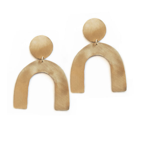 Curve Earrings by The Line of Sun