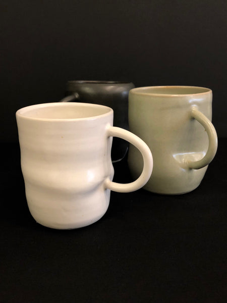 Bump Mug (L) White by Lemons