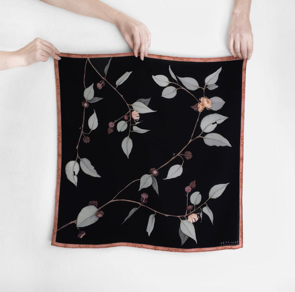 Red Bud Mallee (Square) Scarf by Edith Rewa