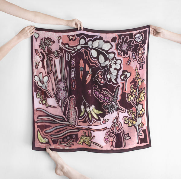 Olive Pink Big (Square) Scarf by Edith Rewa
