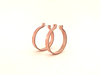Hoop earrings small (Lilac Peach) by Melanie Rice