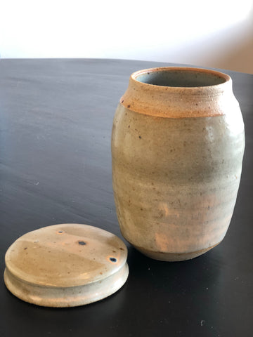 Canister by Gordon Hickmott (Brixton St Pottery)