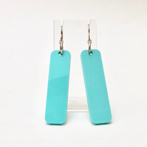 Sterling Silver and Perspex Earrings by Andrea Hughes