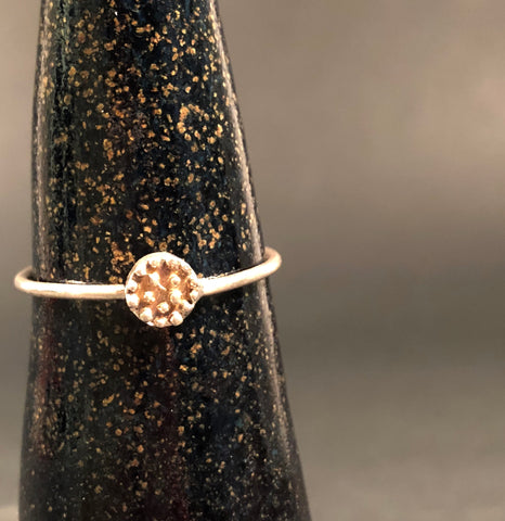 Sundisc Sterling Silver Closed Ring by Abby Seymour