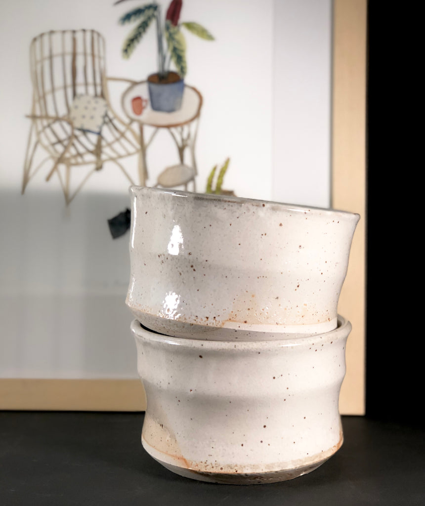 Clay Planter (Cream Glaze) by Gordon Hickmott (Brixton St Pottery)