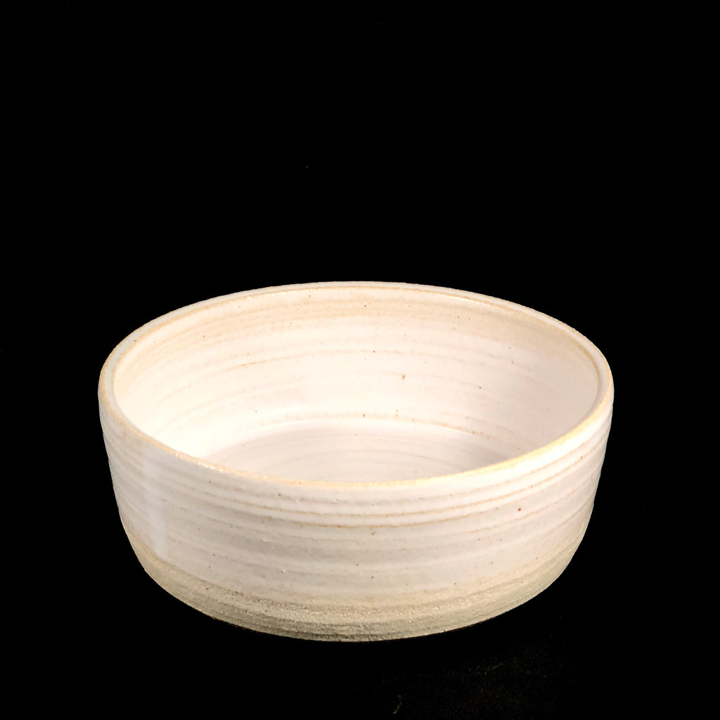 Earth Collection - White Noodle Bowl by Cassarclay