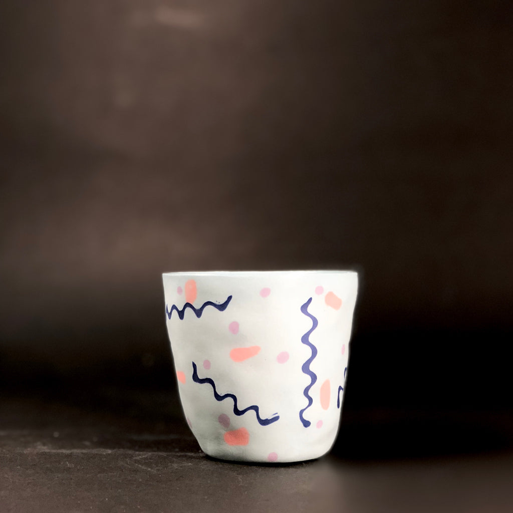 Stain Spot Short Cup by Leah Jackson