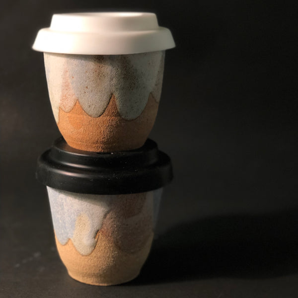 Travel Cup and Silicone Lid (Medium) by Clay by Tina