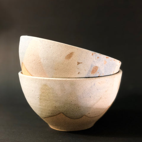 Pastel Pour Soup Bowl by Clay by Tina