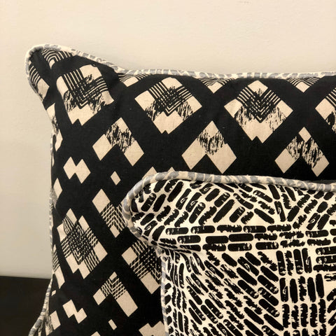 Scatter Cushion Zig Zag Black - Tinker by Printink Studio