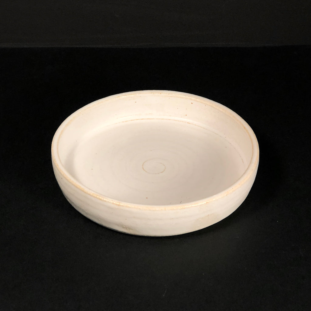 Earth Collection - White Side Plate Raised Edge by Josephine Cassar