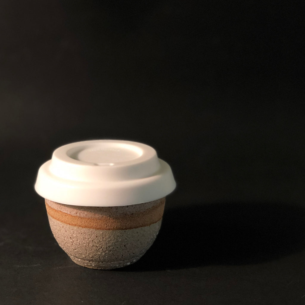 Travel Cup and Silicone Lid (Small) by Clay by Tina
