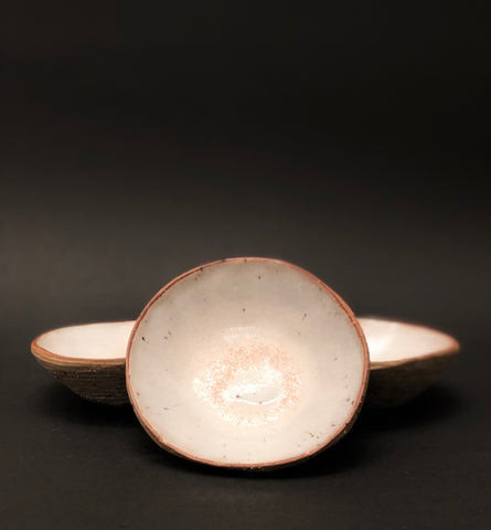 Salt or Olive Dish (small bowl) with White glaze by Daisy Cooper