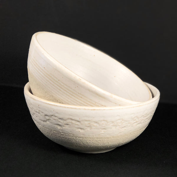 Earth Collection - White Breakfast Bowl by Josephine Cassar