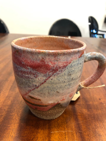 Pink/Blue Pour Glaze Mug by Clay by Tina