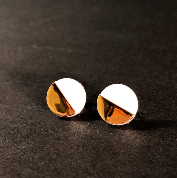 Gold Sculptural Studs by Erin Lightfoot