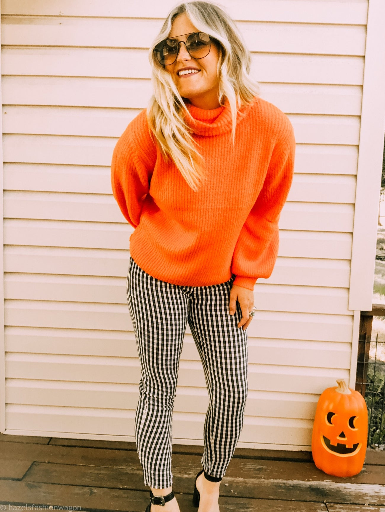 Neon Pumpkin Orange Sweater