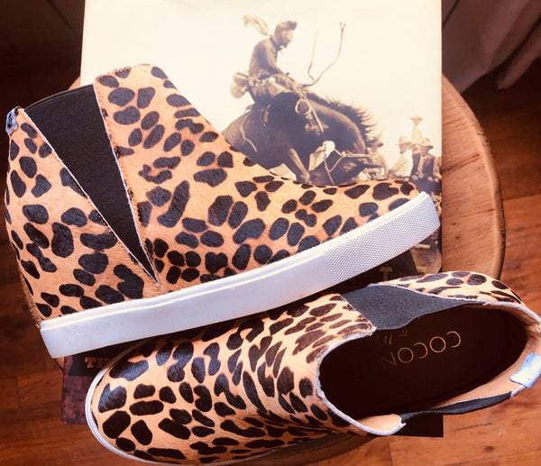 Lure Leopard Wedge Sneaker