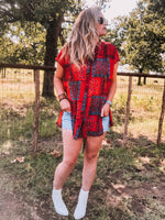 Red Bandana Top