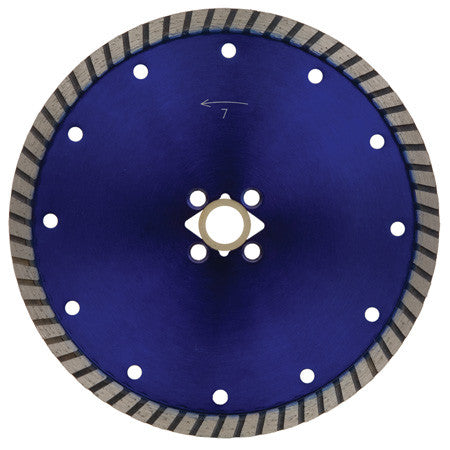 "7"" x .095"" x 7/8-5/8 Stone Blade, Turbo Rim, Value Plus Grade"