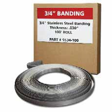 "Marine Grade Boxed Banding (5/8"" Wide) - 82.5ft."
