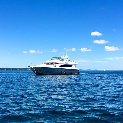 The Traverse City Film Festival begins today in Traverse City, Michigan, and the big yachts are rolling in!