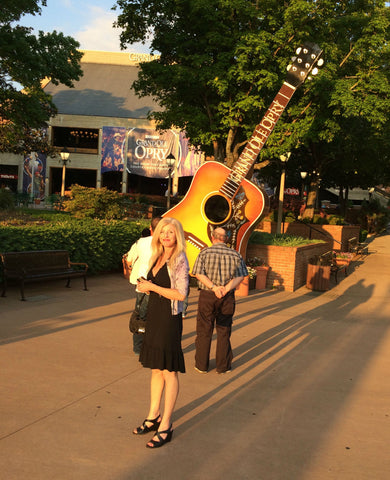 Julianne, founder of Local Universe, at the Grand Ole Opry on our first night in Nashville. ExploreLocalUniverse.com