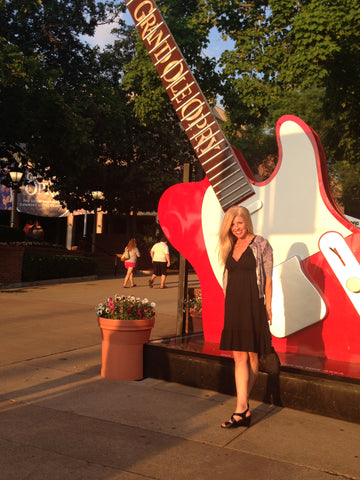 Julianne, founder of Local Universe, at the Grand Ole Opry in Nashville. ExploreLocalUniverse.com