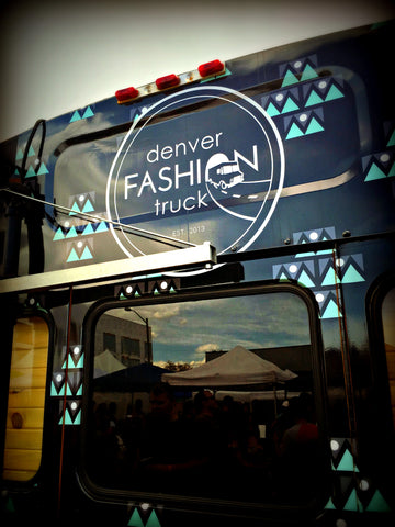 A fashion truck at the Denver Flea in the RiNo neighborhood. Shop Colorado-made goods and get visitor tips at www.explorelocaluniverse.com.