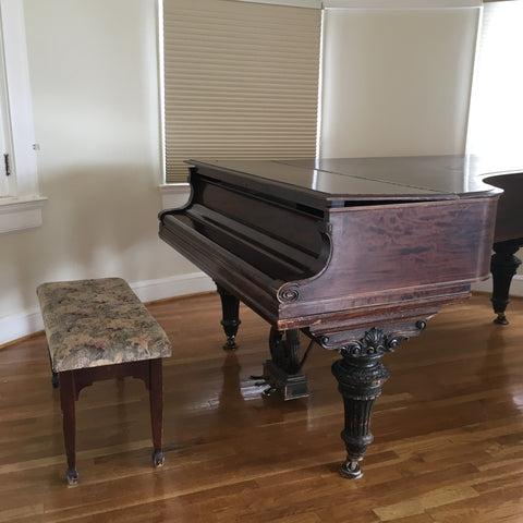 The piano played by Flora Stanley and John Phillip Sousa at The Stanley Hotel in Estes Park, inspiration for The Shining, with Local Universe. www.explorelocaluniverse.come