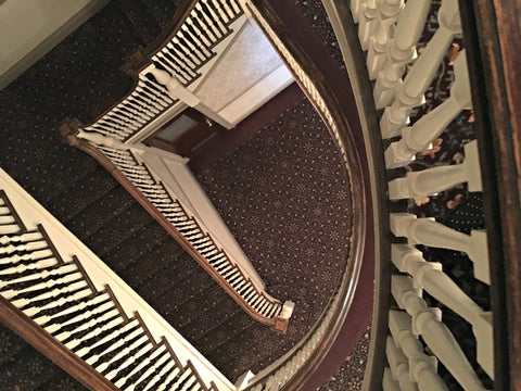 One of the staircases that DD says creates a vortex of energy at The Stanley Hotel in Estes Park, inspiration for The Shining, with Local Universe. www.explorelocaluniverse.come