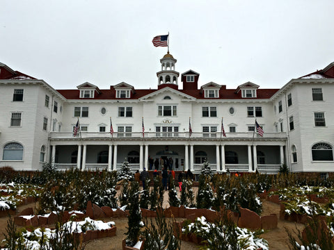 There's a walking maze in front of The Stanley Hotel in Estes Park, inspiration for The Shining, with Local Universe. www.explorelocaluniverse.come