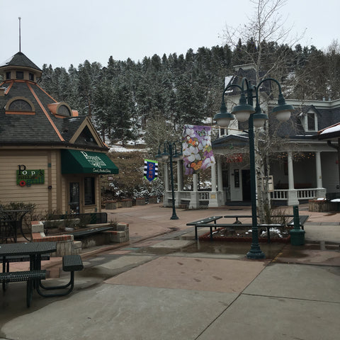 Downtown Estes Park, home to The Stanley Hotel, inspiration for The Shining, with Local Universe. www.explorelocaluniverse.come