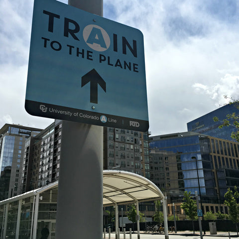 The train from Union Station to Denver International Airport is clean, easy, fast and efficient! Shop Colorado-made goods and get visitor tips at www.explorelocaluniverse.com.