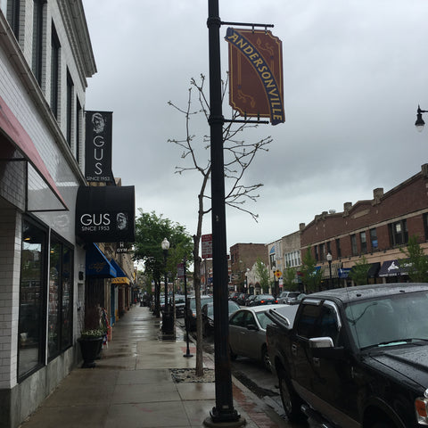 A rainy morning in Andersonville, the neighborhood in Chicago where Local Universe met up with Joelle of PageFree to pick up the handmade, upcycled coasters available at www.explorelocaluniverse.com.