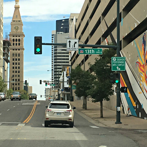 Near the 16th Street Mall in downtown Denver. See www.explorelocaluniverse.com for visitor tips and locally made, sustainably made goods that benefit Colorado causes!