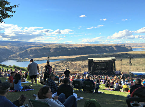 We went to The Gorge, an incredible amphitheater southeast of Seattle, for the Dave Matthews Band show. Read the full travel blog and find locally made Seattle goods at www.explorelocaluniverse.com.