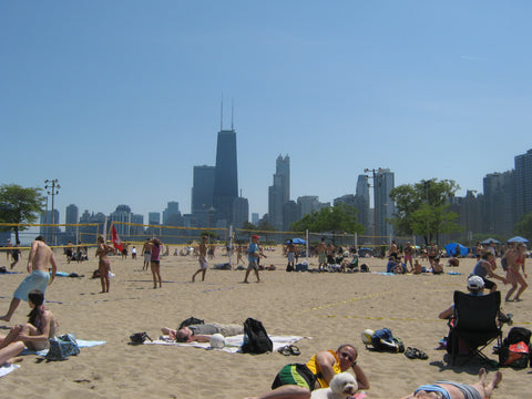 North Avenue Beach in Chicago is a great place to see and be seen (as well as enjoy some killer beach volleyball). Learn more at www.explorelocaluniverse.com.