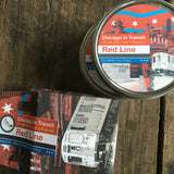 The Chicago Red Line Soy Candle. Read our Chicago travel blog and shop the collection of locally made, sustainably made goods at www.explorelocaluniverse.com.