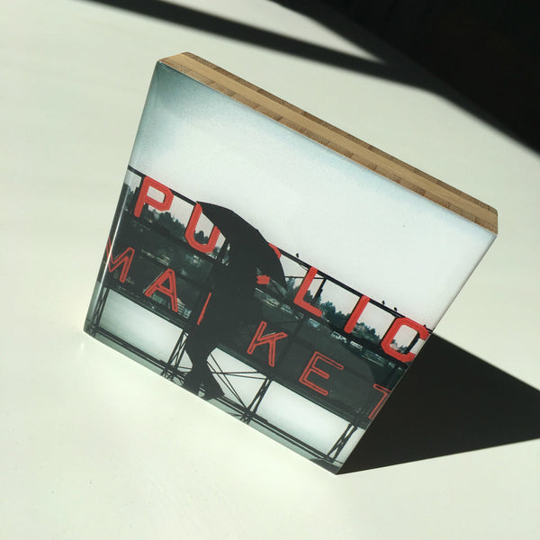Seattle Public Market Bamboo Photo Block by Seattle photographer Travis Tyler available at www.explorelocaluniverse.com.